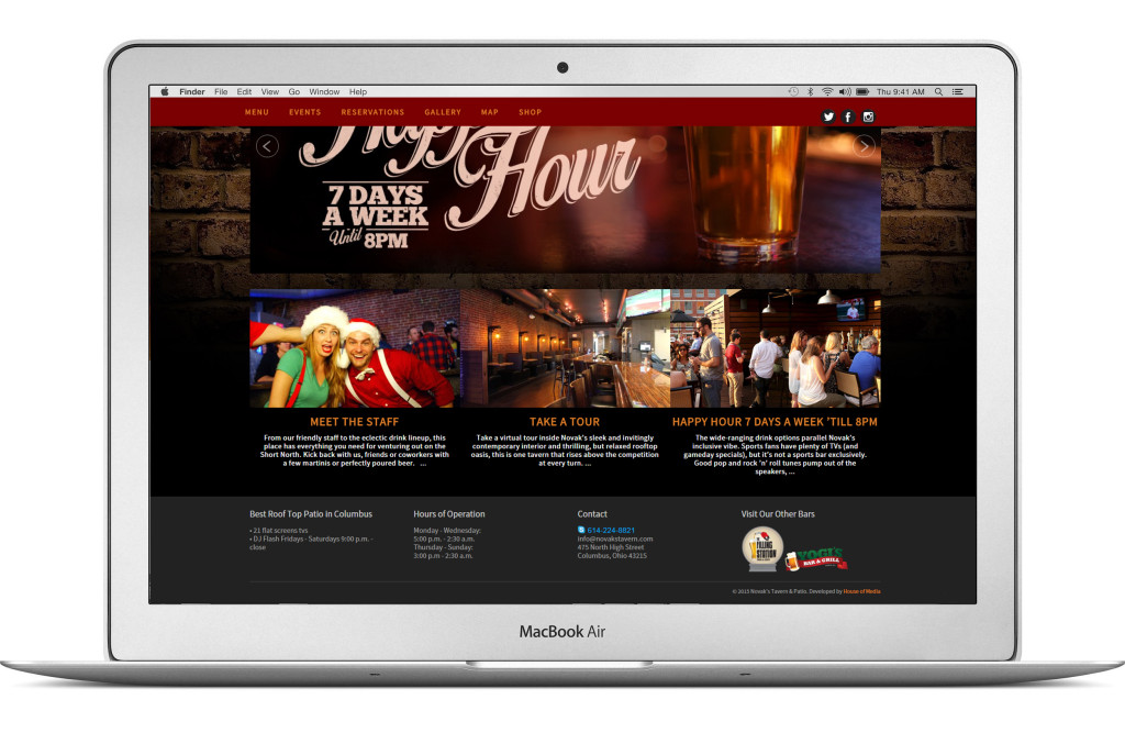Novaks Tavern & Patio Website