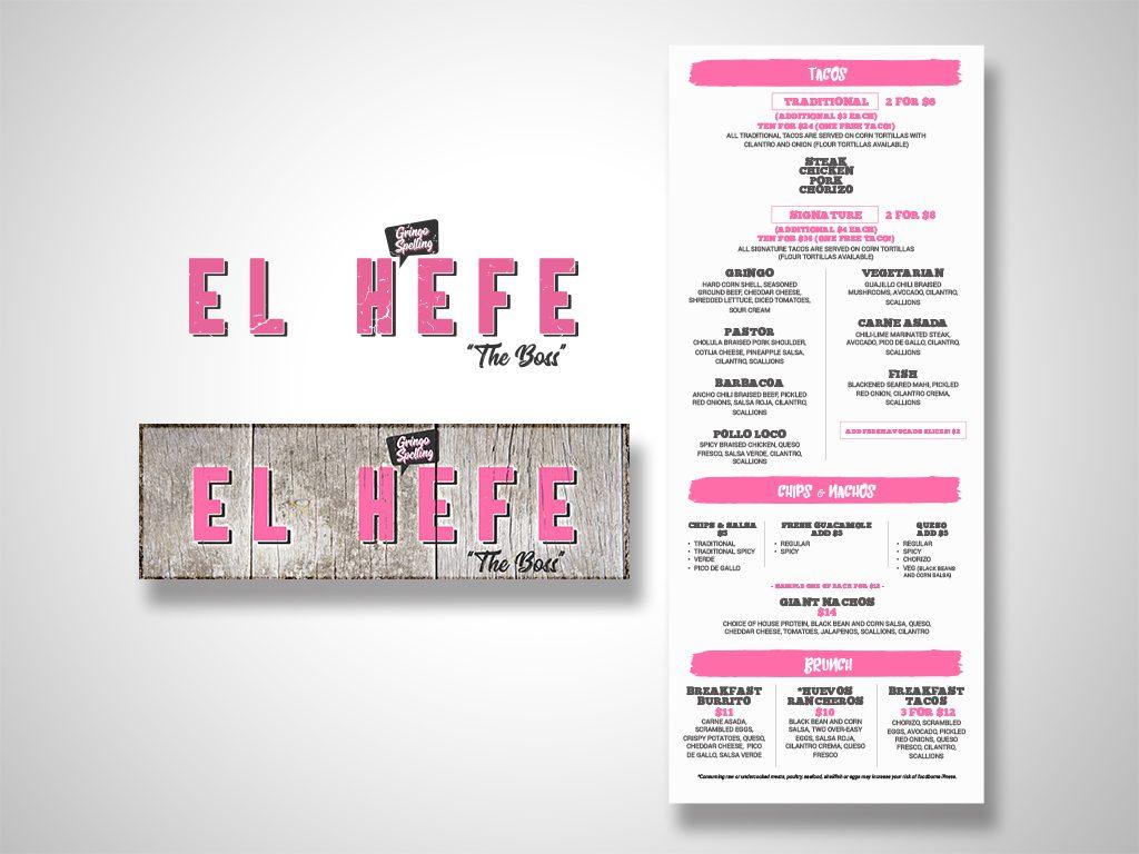 El Hefe Logo & Menu Design